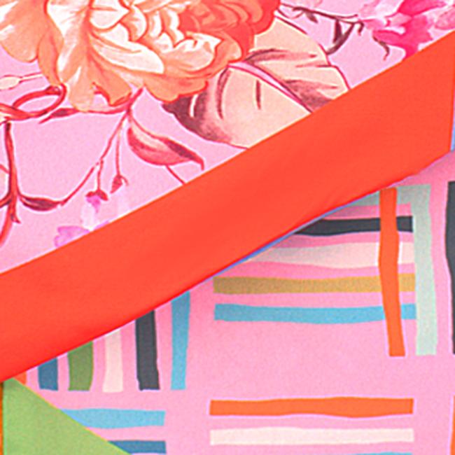 Roze ROMANO SHAWLS AMSTERDAM Sjaal TUBILAIR FLOWER  - large