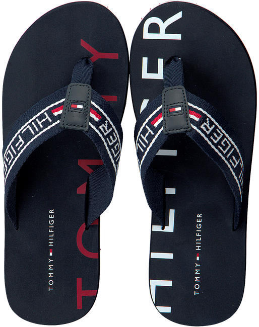 Blauwe TOMMY HILFIGER Slippers SEASONAL STRIPE BEACH  - large