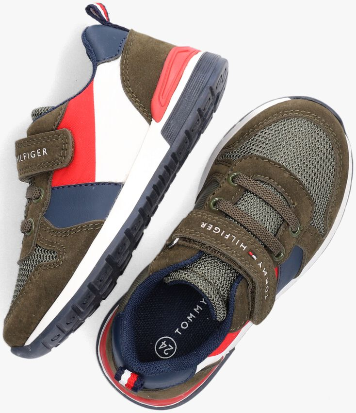 Groene TOMMY HILFIGER Lage sneakers 32071  - larger