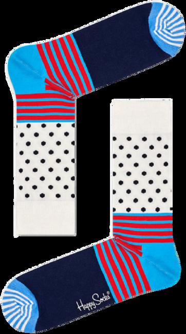 Witte HAPPY SOCKS Sokken STRIPES & DOT SOCK  - large