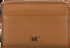 Bruine MICHAEL KORS Portemonnee ZA COIN CARD CASE - small