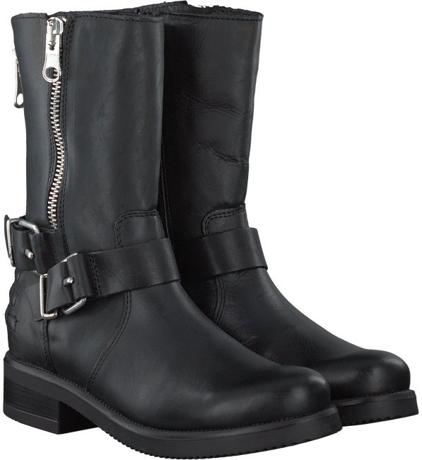 Zwarte PS POELMAN Lange laarzen 13186  - large