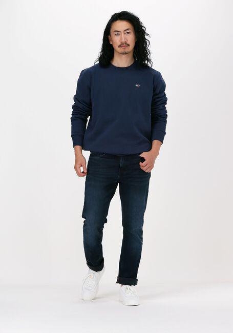 Donkerblauwe TOMMY JEANS Sweater TJM REGULAR FLEECE C NECK  - large