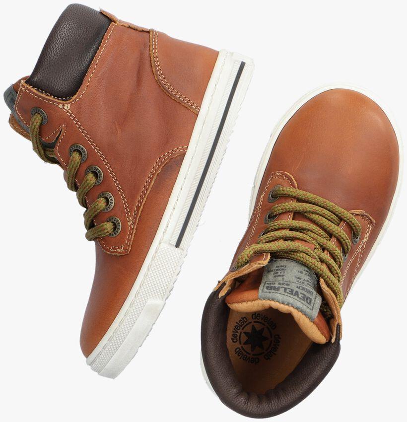 Cognac DEVELAB Hoge sneaker 41901  - larger