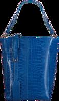 Blauwe HVISK Handtas CASSET CROCO - medium