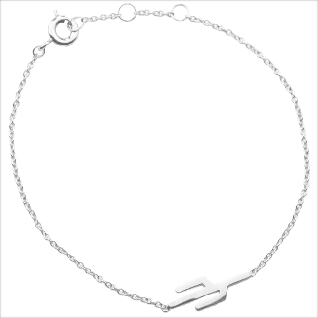 Zilveren ATLITW STUDIO Armband SOUVENIR BRACELET CACTUS - large