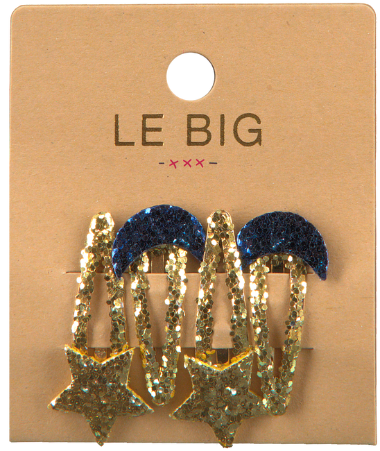 Gouden LE BIG Haarband PEARL HAIRCLIPS  - large