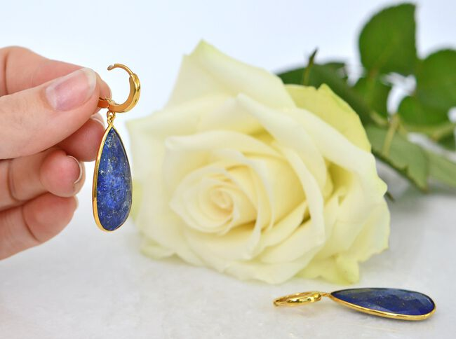 Blauwe JEWELLERY BY SOPHIE Oorbellen ONLY THE BEST EARRINGS - large