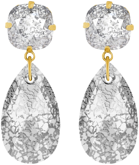Grijze JEWELLERY BY SOPHIE Oorbellen DOUBLE GLAMOUR EARRINGS - large