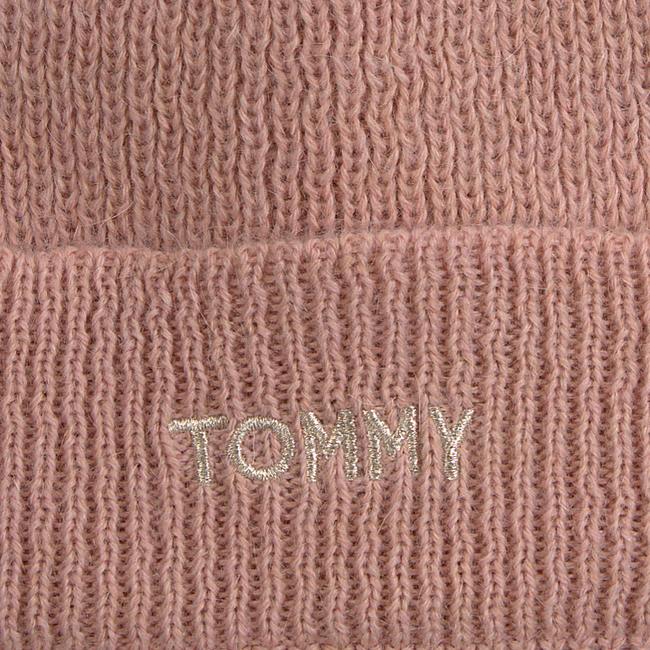 Roze TOMMY HILFIGER  Muts EFFORTLESS KNIT BEAN - large