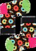 Zwarte HAPPY SOCKS Sokken KIDS DONUT SOCK - small