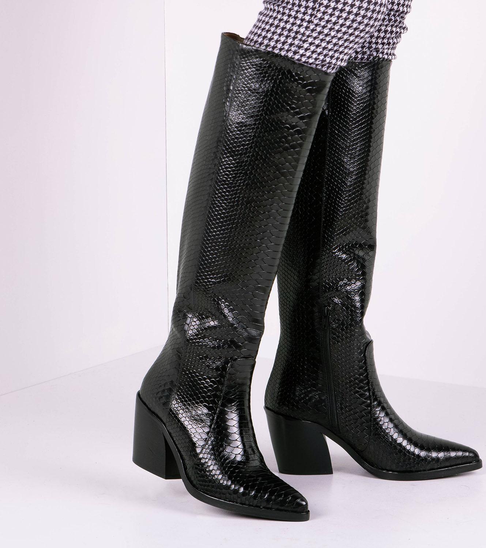 Zwarte VIA VAI Lange laarzen BLAKE SKYE   Omoda