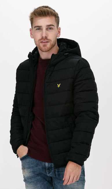 Zwarte LYLE & SCOTT Gewatteerde jas LIGHTWEIGHT PUFFER JACKET - large