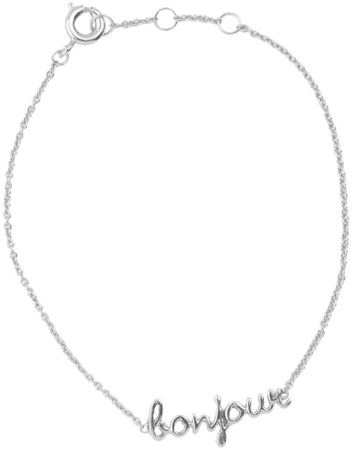 Zilveren ALLTHELUCKINTHEWORLD Armband URBAN BRACELET BONJOUR - large