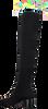 Zwarte WHAT FOR Overknee laarzen ALBANE WOVEN  - small