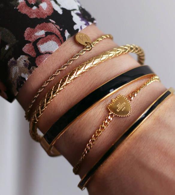 Gouden MY JEWELLERY Armband ARMBAND BEDEL MI AMORE  - large