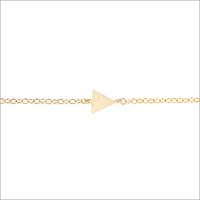 Gouden ATLITW STUDIO Armband ELEMENTS BRACELET TRIANGLE SOLID - large