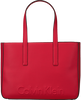 Beige CALVIN KLEIN Shopper EDGE MEDIUM SHOPPER - small