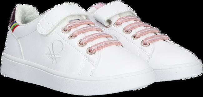 Witte BENETTON Lage sneakers PENN CRACK VELCRO  - large