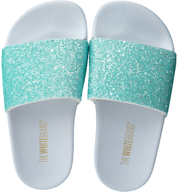 Groene THE WHITE BRAND Slippers GLITTER MATTE  - large