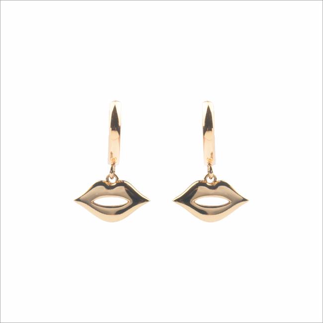Gouden ATLITW STUDIO Oorbellen SOUVENIR EARRINGS LIPS - large