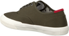 Groene TOMMY HILFIGER Lage sneakers CORE OXFORD TWILL - small