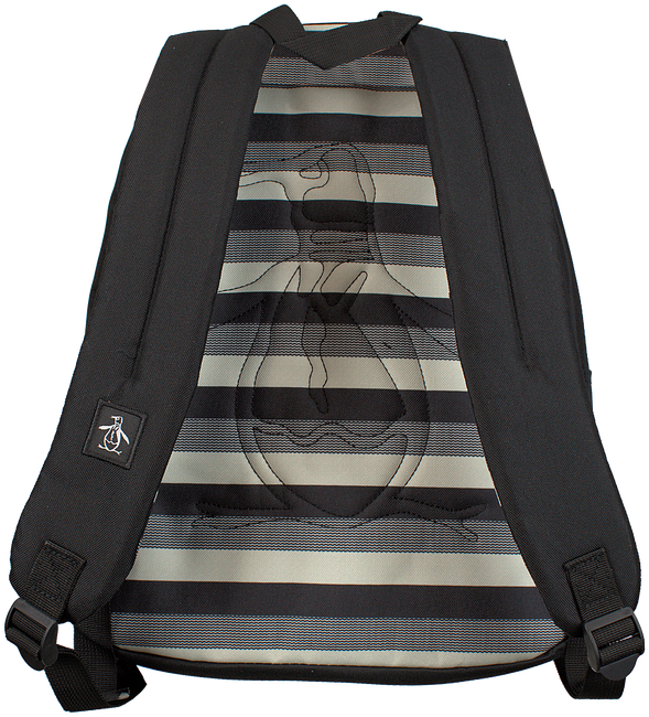 Zwarte ORIGINAL PENGUIN Rugtas CHATHAM STRIPE BACKPACK - large