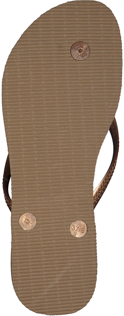 Gouden HAVAIANAS Slippers SLIM CRYSTAL GLAMOUR  - large