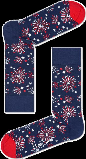 Blauwe HAPPY SOCKS Sokken FIREWORK - large