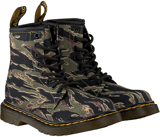 Groene DR MARTENS Veterboots 1460 CAMO T/J - large
