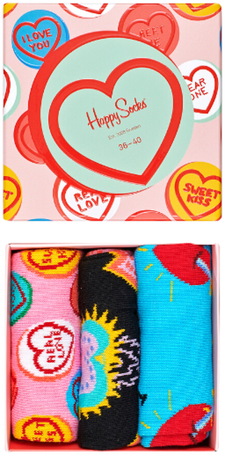 Multi HAPPY SOCKS Sokken I LOVE YOU GIFT BOX  - large