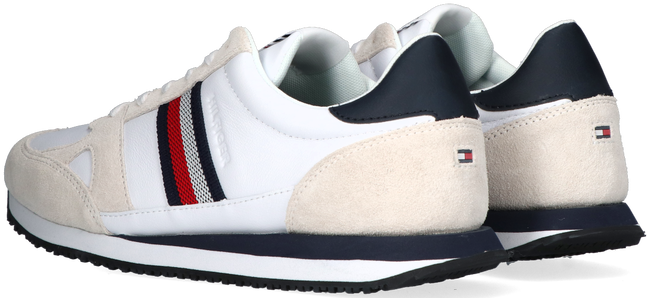 Witte TOMMY HILFIGER Lage sneakers RUNNER LO STRIPES  - large