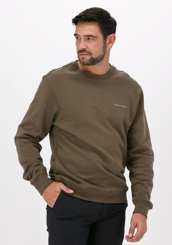 Donkergroene TIGER OF SWEDEN Sweater EMERSON  - larger