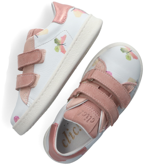 Witte CLIC! Lage sneakers CL-9476  - large