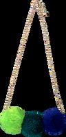 Blauwe LE BIG Ketting POOKY NECKLACE  - medium