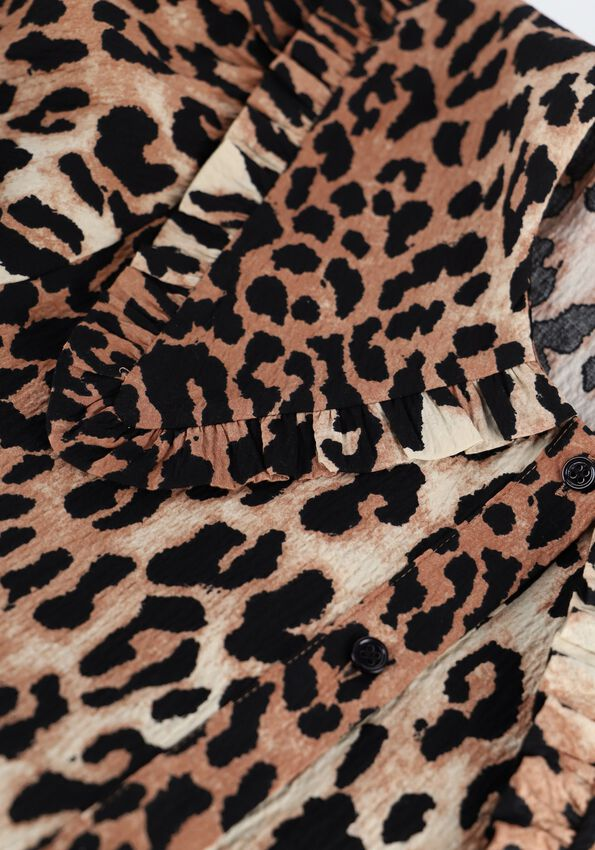 Bruine CATWALK JUNKIE Blouse BL WILD LEOPARD - larger