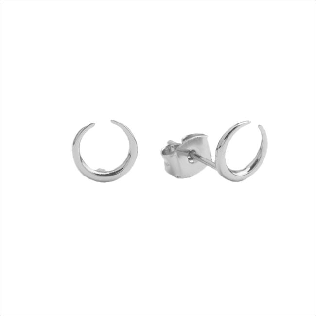 Zilveren ATLITW STUDIO Oorbellen PARADE EARRINGS HORN - large