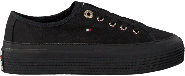 Zwarte TOMMY HILFIGER Sneakers CORPORATE FLATFORM  - large