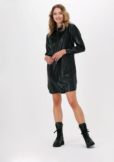 Zwarte SIMPLE Mini jurk ECO LEATHER DRESS - large