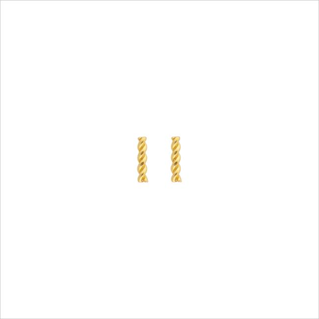 Gouden ALLTHELUCKINTHEWORLD Oorbellen PETITE EARRINGS TWISTED STRIP - large