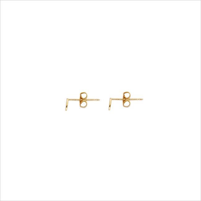 Gouden ALLTHELUCKINTHEWORLD Oorbellen PETITE EARRINGS OVAL - large