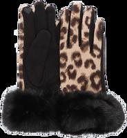 Zwarte Yehwang Handschoenen SOFT LEOPARD  - medium