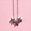 Zilveren ALLTHELUCKINTHEWORLD Ketting FORTUNE NECKLACE THREE STARS - small
