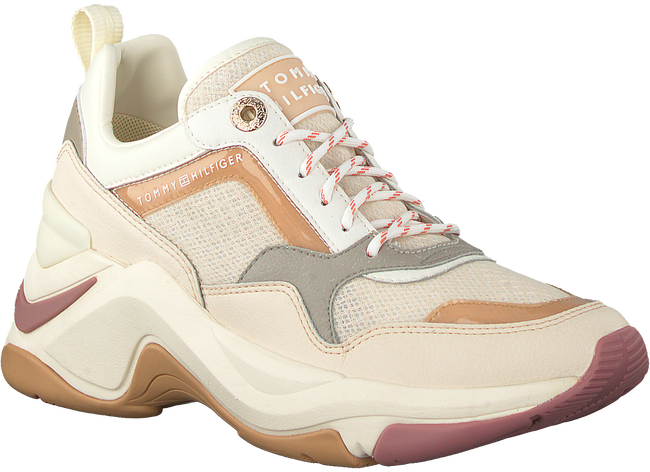 Beige TOMMY HILFIGER Lage sneakers INTERNAL WEDGE SPORTY  - large