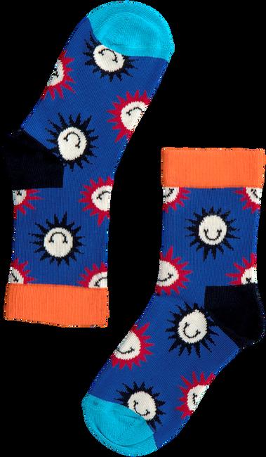 Paarse HAPPY SOCKS Sokken SUNNY SMILE  - large