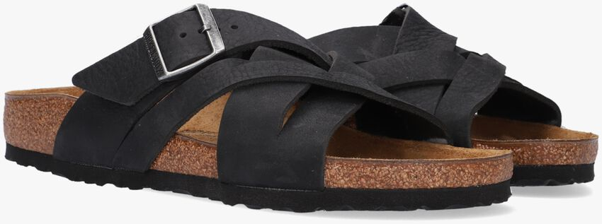 Zwarte BIRKENSTOCK Slippers LUGANO LEOI CAMBERRA BLACK  - larger