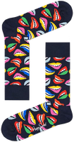 Zwarte HAPPY SOCKS Sokken LIPS  - medium