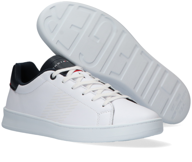 Witte TOMMY HILFIGER Lage sneakers RETRO TENNIS CUPSOLE  - large