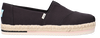 Zwarte TOMS Espadrilles ALPARGATA PLATFORM ROPE  - small