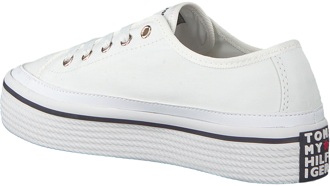 Witte TOMMY HILFIGER Sneakers CORPORATE FLATFORM - large